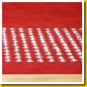 Stainless Steel Dots embedded in Red Carpet